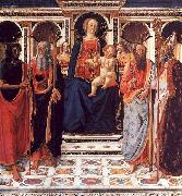 Cosimo Rosselli The Virgin and Child Enthroned with Saints oil on canvas